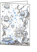 Regina Valluzzi Greeting Cards - Alien biota Greeting Card by Regina Valluzzi