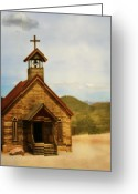 Western Sky Greeting Cards - All Shall Prevail Greeting Card by Margie Hurwich