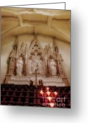 Religious Building Greeting Cards - Altar Greeting Card by Susan Candelario