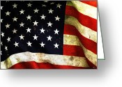 Flag Of The United States Greeting Cards - Always Proud Greeting Card by Karol  Livote