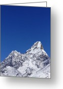 Ama Greeting Cards - Ama Dablam mountain in the Everest Region of Nepal Greeting Card by Robert Preston