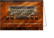 Domestic Scenes Greeting Cards - Americana - Radio - Remember what radio was like Greeting Card by Mike Savad