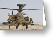 Featured Greeting Cards - An Ah-64d Saraf Attack Helicopter Greeting Card by Ofer Zidon