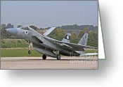 Featured Greeting Cards - An F-15b Baz Of The Israeli Air Force Greeting Card by Ofer Zidon