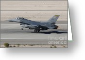 Featured Greeting Cards - An F-16c Fighting Falcon Taking Greeting Card by Remo Guidi
