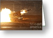 Featured Greeting Cards - An Israel Defense Force Artillery Core Greeting Card by Ofer Zidon