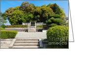 Mound Greeting Cards - Anciant Japanese imperial mausoleum Greeting Card by David Hill