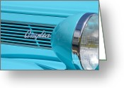 Mary Deal Greeting Cards - Anglia Logo and Headlamp Greeting Card by Mary Deal