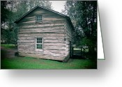 Diannah Lynch Greeting Cards - Appalachian Cabin at Mabry Mill Greeting Card by Diannah Lynch