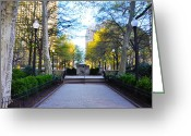 Bill Cannon Greeting Cards - April in Rittenhouse Square Greeting Card by Bill Cannon