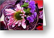 Eateries Greeting Cards - Arrangement on Cabbage Greeting Card by Sarah Loft