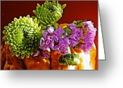 Eateries Greeting Cards - Arrangement on Squash Greeting Card by Sarah Loft
