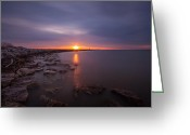 Shoreline Greeting Cards - As The Light Shines Upon Us Greeting Card by Daniel Chen