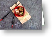 Bamboo Greeting Cards - Asian meatballs 1 Greeting Card by Jane Rix