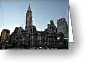 Cityhall Greeting Cards - At City Hall in Philadelphia Greeting Card by Bill Cannon