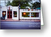 Artist Studio Greeting Cards - Austin Art Gallery Greeting Card by Sonja Quintero