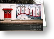 Live Music Greeting Cards - Austin Capital Greeting Card by Sonja Quintero
