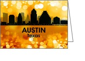 Capital Mixed Media Greeting Cards - Austin TX 3 Greeting Card by Angelina Vick