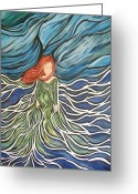 Storm Prints Greeting Cards - Awaken the Storm Greeting Card by Cheryl Kennedy