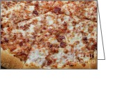 Dinner Greeting Cards - Bacon Pizza 1 - Pizzeria - Pizza Shoppe Greeting Card by Andee Photography