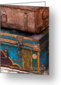 Deteriorated Greeting Cards - Baggage Greeting Card by Art Blocks