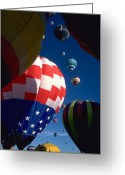 Red White And Blue Greeting Cards - Balloon 4 Greeting Card by ABeautifulSky  Photography