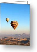 Sun Abstract Pyrography Greeting Cards - Balloon Greeting Card by Ernesto Cinquepalmi