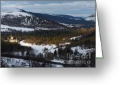 British Royalty Greeting Cards - Balmoral Castle Deeside snow Greeting Card by Phil Banks
