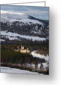 British Royalty Greeting Cards - Balmoral Castle snow Greeting Card by Phil Banks