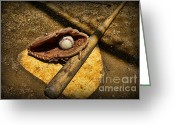 Sports Art Greeting Cards - Baseball Home Plate Greeting Card by Paul Ward