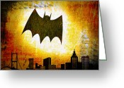 Batman Greeting Cards - Batman Scars for the City Greeting Card by Eric Lewis