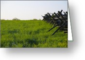 Bill Cannon Greeting Cards - Battlefield Fence Gettysburg Greeting Card by Bill Cannon