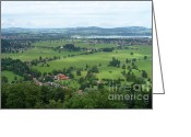 Carol Groenen Greeting Cards - Bavarian Green Valley Greeting Card by Carol Groenen