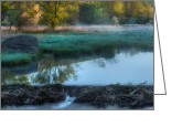 Morning Light Greeting Cards - Beaver Dam Greeting Card by Bill  Wakeley