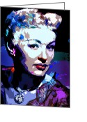 Grable Greeting Cards - Betty Grable Greeting Card by Allen Glass