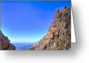 Hdr Look Photo Greeting Cards - Between the Mountains Greeting Card by Michele Stoehr