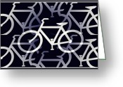 Tour De France Greeting Cards - Bicycle Infinity Greeting Card by Bill Cannon
