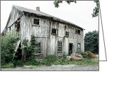 Dilapidated Greeting Cards - Big Old Barn - Rustic - Agricultural Buildings Greeting Card by Gary Heller