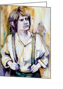 Jrr Greeting Cards - Bilbo Baggins Greeting Card by Slaveika Aladjova