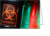 Toxic Greeting Cards - Biohazard Greeting Card by Olivier Le Queinec