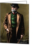 Black Bart Greeting Cards - Black Bart 20130513 Greeting Card by Wingsdomain Art and Photography