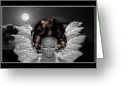 Angel Posters Greeting Cards - Black beauty Greeting Card by Karen Showell