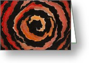 Caron Greeting Cards - Black Hole Rose Greeting Card by Mike Caron