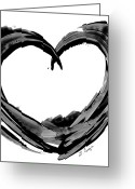 Black Print Greeting Cards - Black Magic 180 - Buy Abstract Art Online Greeting Card by Sharon Cummings