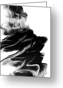 Sharon Cummings Prints Greeting Cards - Black Magic 28 Greeting Card by Sharon Cummings