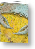 Lipton Greeting Cards - Blue Crab Greeting Card by Aprille Lipton