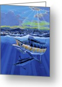 Marlin Azul Greeting Cards - Blue Pitcher Greeting Card by Carey Chen