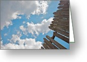 Hdr Look Photo Greeting Cards - Blue Sky Greeting Card by Michele Stoehr