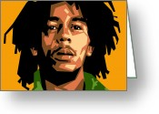 Reggae Greeting Cards - Bob Marley Greeting Card by Douglas Simonson