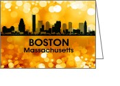 Capital Mixed Media Greeting Cards - Boston MA 3 Greeting Card by Angelina Vick